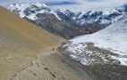 Descent to Thorung Phedi - by Henk