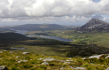 Slí Dún na nGall, Donegal Way: Mt Errigal, Dunlewy lough and Dunlewy